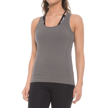 Yummie by Heather Thomson Jackie Racer Tank Top (For Women) in Castlerock