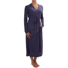 Yummie by Heather Thomson Long Jersey-Knit Robe - Pima Cotton, Long Sleeve (For Women) in Eclipse - Closeouts