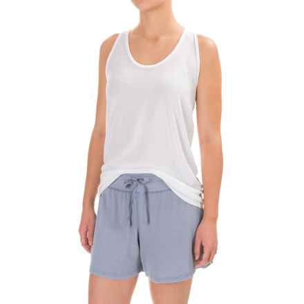 Yummie by Heather Thomson Loungewear Tank Top - Racerback, Pima Cotton-Modal (For Women) in White - Closeouts