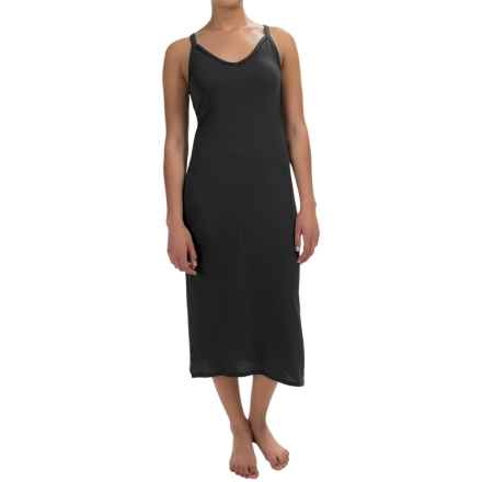 Yummie by Heather Thomson Strappy Racer Nightgown - Pima Cotton-Modal, Sleeveless (For Women) in Black - Overstock