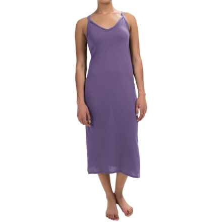 Yummie by Heather Thomson Strappy Racer Nightgown - Pima Cotton-Modal, Sleeveless (For Women) in Mulled Grape - Overstock