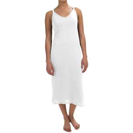 Yummie by Heather Thomson Strappy Racer Nightgown - Pima Cotton-Modal, Sleeveless (For Women) in White - Overstock