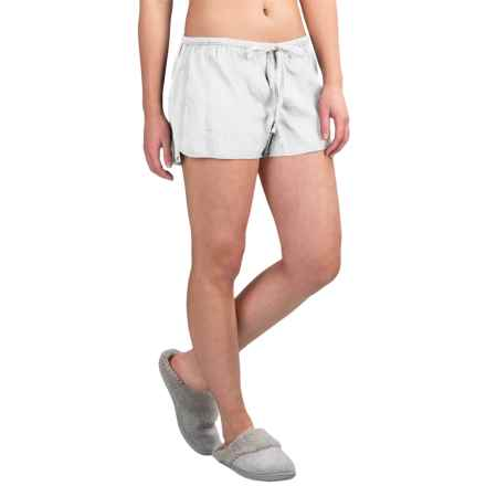 Yummie by Heather Thomson Voile Lounge Shorts (For Women) in White - Closeouts
