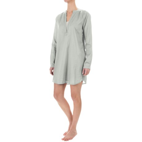 Yummie by Heather Thomson Voile Nightshirt - Mandarin Collar, Long Sleeve (For Women)
