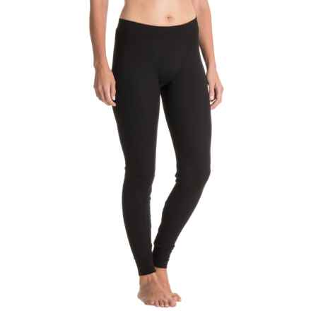 Yummie by Heather Thomson Waffle-Knit Long John Lounge Pants - Cotton-Modal (For Women) in Black - Closeouts