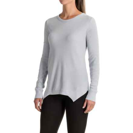 Yummie by Heather Thomson Waffle-Knit Shirt - Cotton-Modal, Long Sleeve (For Women) in Arctic Ice - Closeouts