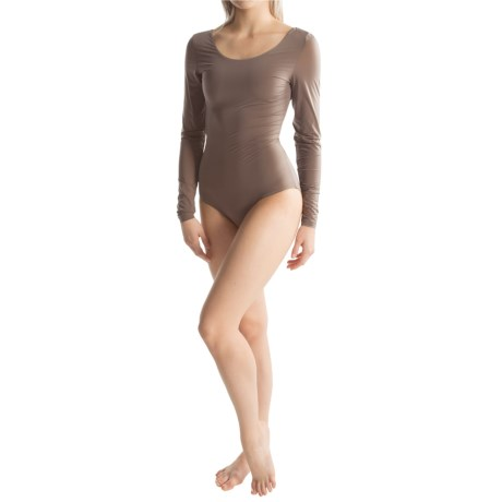 Yummie Tummie Eve Ballet Back Shaping Bodysuit Long Sleeve (For Women)