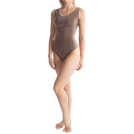 Yummie Tummie Lorraine Sheer and Smooth Shaping Bodysuit Thong Back, Sleeveless (For Women)