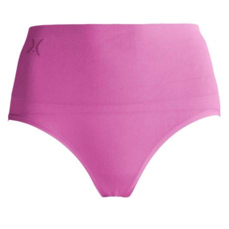 Yummie Tummie Nylon Nici Everyday Shaping Briefie Underwear - Brief, Seamless (For Women) in Phlox Pink