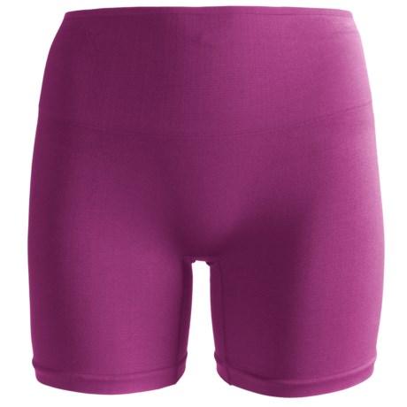 Yummie Tummie Nylon Nina Shaping Shortie Underwear - Seamless, Briefs (For Women) in Phlox Pink
