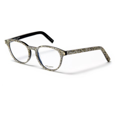 Yves Saint Laurent Classic 10 Transparent Optical Frame Glasses (For Women) in Silver/Silver