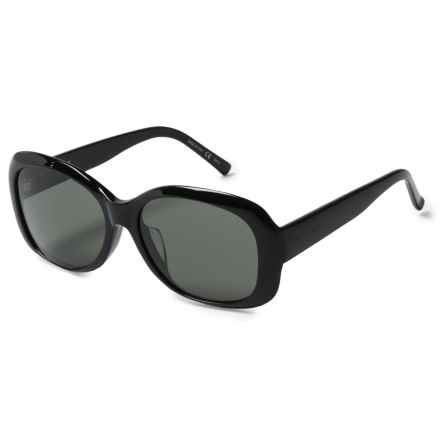 Yves Saint Laurent Large Frame Sunglasses (For Women) in Shiny Black - Closeouts