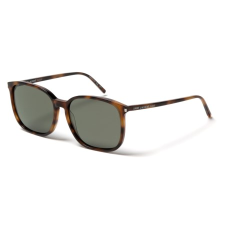 Yves Saint Laurent SL 37 Sunglasses (For Women) in Havana/Light/Green