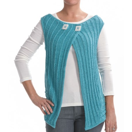 Z Park Avenue Crochet Vest (For Women) in Aqua Swirl