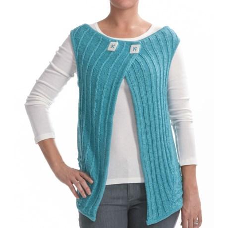Z Park Avenue Crochet Vest (For Women) in Aqua Swirl