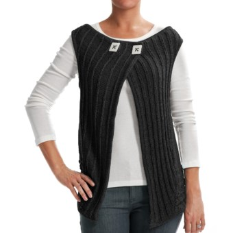 Z Park Avenue Crochet Vest (For Women) in Black