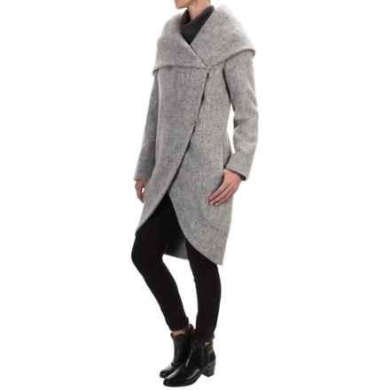 Zac Posen Camilla Cocoon Coat - Wool (For Women) in Grey Melange - Closeouts