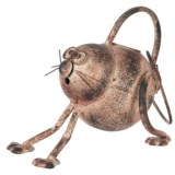 """Zaer Antique Painted Cat Watering Can - 8.25x11x7"""""""
