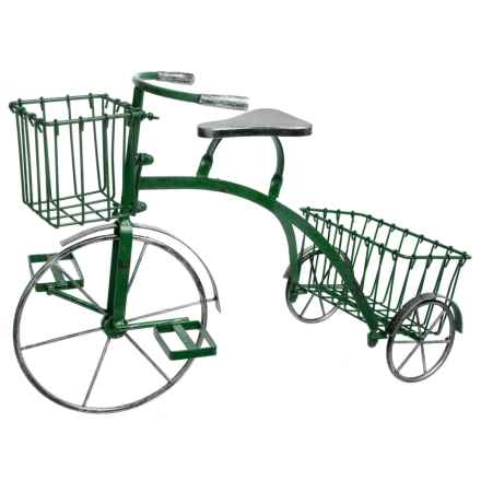 Zaer Small Tricycle Plant Stand in Antique Green - Closeouts