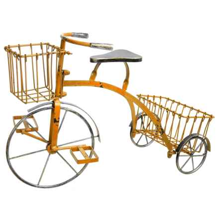 Zaer Small Tricycle Plant Stand in Antique Yellow - Closeouts