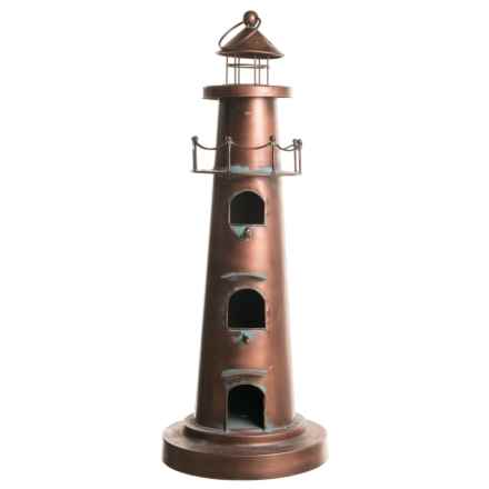 Zaer Stephania Collection Hanging Lighthouse Birdhouse in Antique Copper - Closeouts