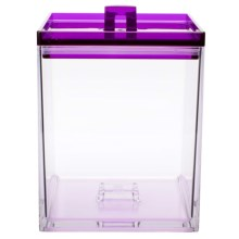 Zak Designs Meeme Stackable Kitchen Canister - 1.6 qt. in Grape / Clear - Closeouts