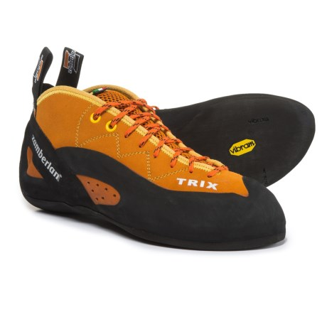 Zamberlan A42 Trix Climbing Shoes - Leather (For Men and Women) in Orange