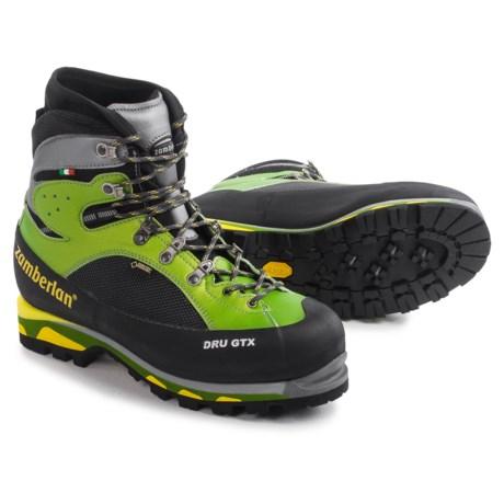 Zamberlan Dru Gore-Tex® RR Mountaineering Boots - Waterproof, Insulated (For Men) in Acid Green