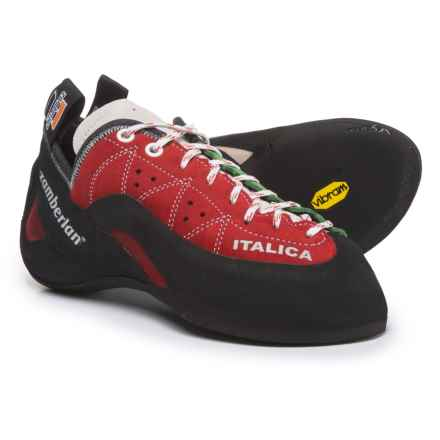 Zamberlan Italica Climbing Shoes - Suede (For Men and Women) in Green/White/Red - Closeouts