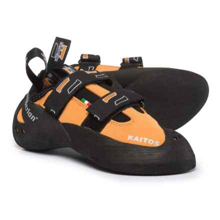 Zamberlan Kaitos Climbing Shoes - Suede, Touch-Fasten (For Men and Women) in Orange - Closeouts