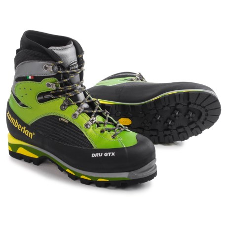 Zamberlan Made in Italy Dru Gore-Tex® RR Mountaineering Boots - Waterproof, Insulated (For Men) in Acid Green