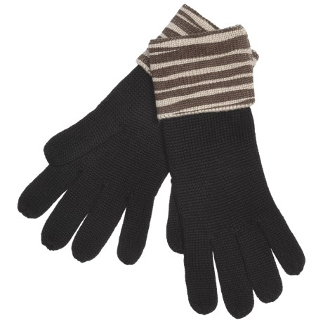 Zazou Animal-Print Cuff Gloves (For Women) in Espresso Zebra