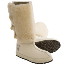 ZDAR Aliona Winter Boots - Wool, Shearling (For Women) in Cream - Closeouts