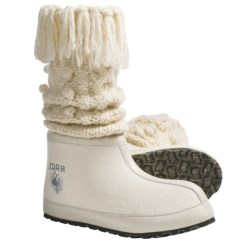ZDAR Masha High Boots - Wool Felt (For Women) in Cream
