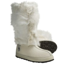 ZDAR Nikita Boots - Fox Fur, Wool Lining (For Women) in White Fox - Closeouts