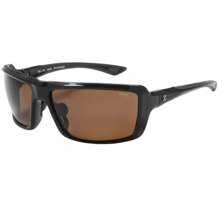 Zeal All In Sunglasses - Polarized in Copper/Black Gloss