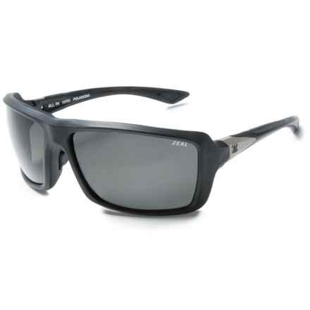 Zeal All In Sunglasses - Polarized in Dark Grey/Matte Black/Grey - Closeouts