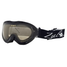 Zeal Aspect SPPX Snowsport Goggles - Polarized Photochromic Lenses (For Women) in Shiny Black/Light Yellow To Zb Rose Brown - Closeouts