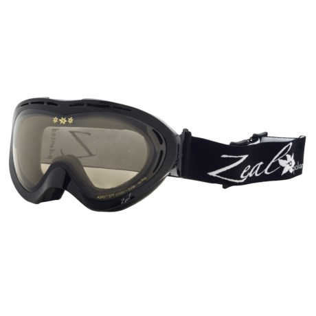 Zeal Aspect SPPX Snowsport Goggles - Polarized Photochromic Lenses (For Women) in Shiny Black/Light Yellow To Zb Rose Brown