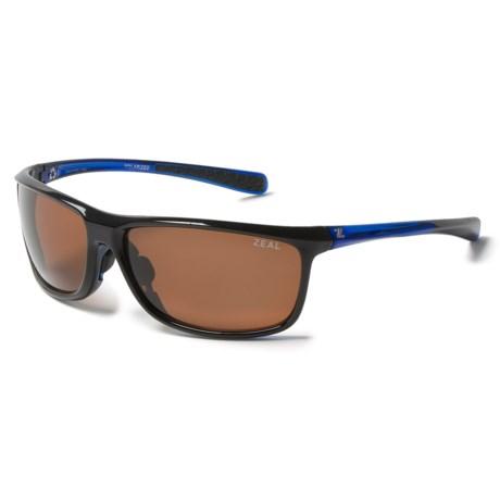 Zeal Backyard Sunglasses - Polarized in Black/Blue