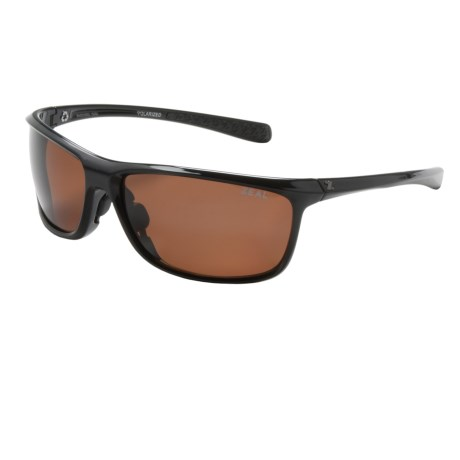 Zeal Backyard Sunglasses - Polarized in Black Gloss/Copper