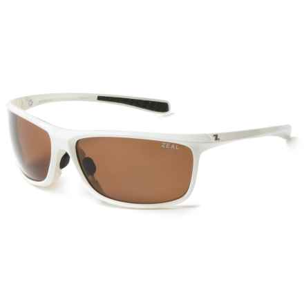 Zeal Backyard Sunglasses - Polarized in Shiny White - Closeouts
