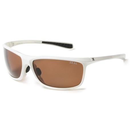 Zeal Backyard Sunglasses - Polarized in Shiny White