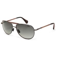 Zeal Barstow Polarized Sunglasses - Ellume Lenses in Colt Steel/Gradient Dark Grey - Closeouts