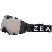 Zeal Base HD Camera Snowsport Goggles in Metal Mirror/Black - Closeouts