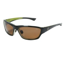 Zeal Boundary Sunglasses - Polarized in Black Lime Green Gloss/Copper - Closeouts