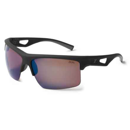 Zeal Cota Sunglasses - Polarized, Mirrored Lenses in Black/Blue Bird Mirror - Closeouts