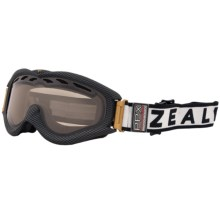 Zeal Detonator PPX Snowsport Googles - Polarized, Photochromic Lens in Carbon Matte Black - Closeouts