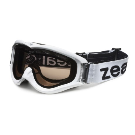 Zeal Detonator Snowsport Goggles - Polarized in White/Zb-13