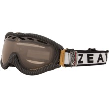 Zeal Detonator SPPX Snowsport Goggles - Polarized, Photochromic Lens in Carbon Matte Black - Closeouts